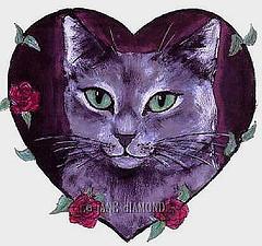 Cat in love image
